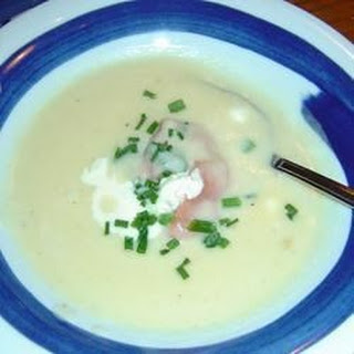Potato Soup with Gravlax Rosettes