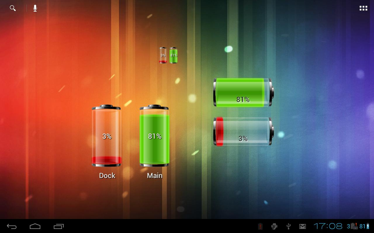Dual Battery Widget- screenshot