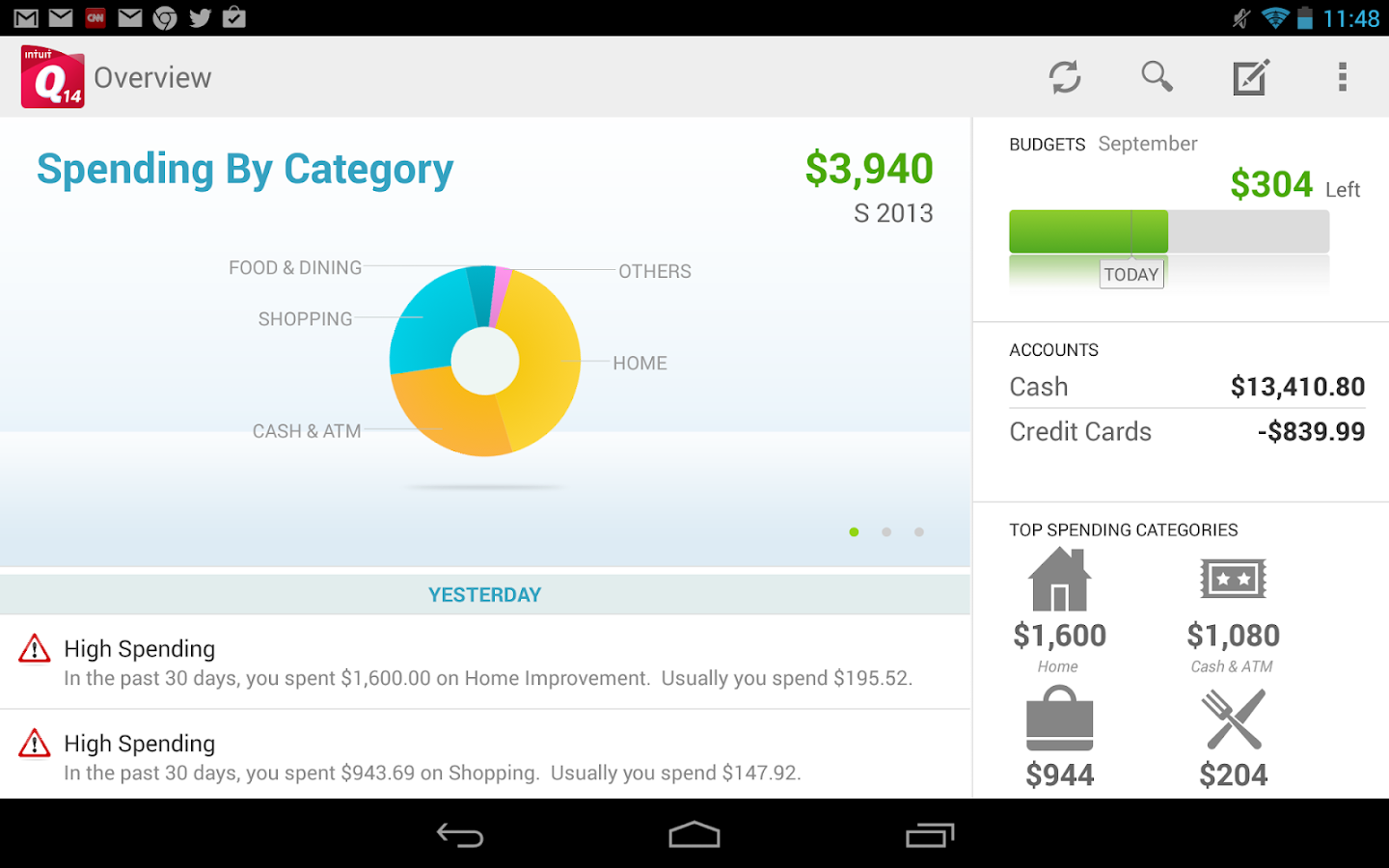 Quicken 2014 Money Management - screenshot