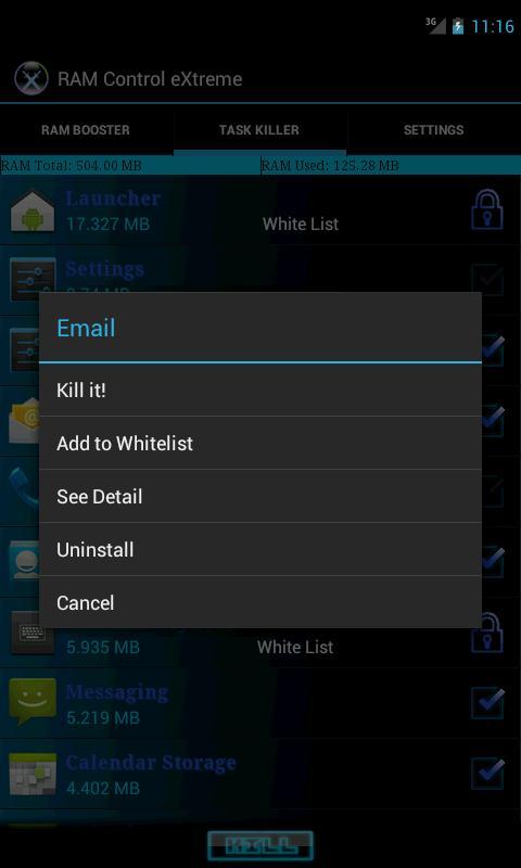 RAM Control eXtreme Pro - screenshot