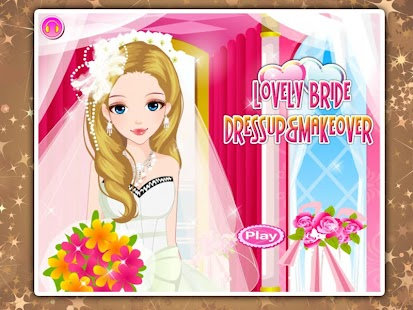 Lovely bride dressup makeover
