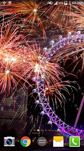 Fireworks Live Wallpaper HD