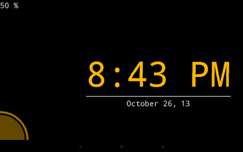Night clock (Daydream clock) screenshot 4