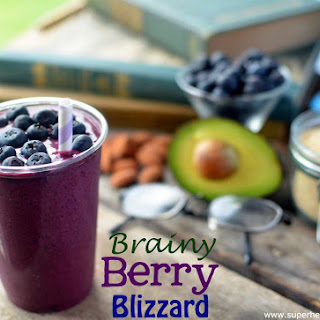 Berry Brainy Blizzard- A Smoothie For Kids.
