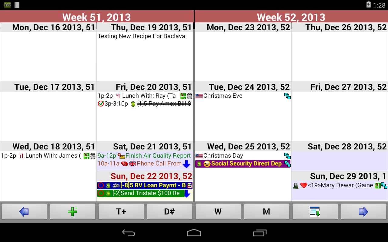 Pimlical Advanced Calendar/PIM - screenshot