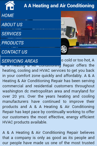 AA Heating & Air Conditioning- screenshot