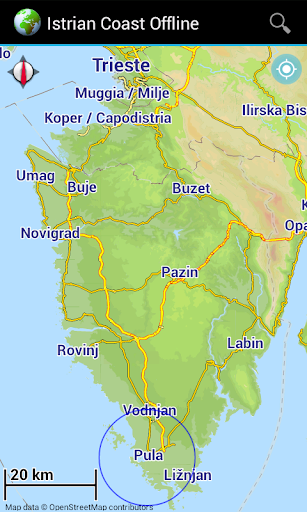 Offline Map Istrian Coast