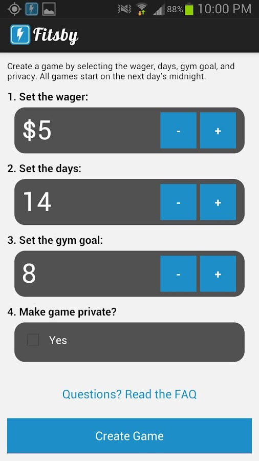 Fitsby - Workout Motivation - screenshot
