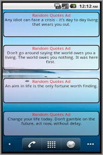 Random Quotes Ad- screenshot thumbnail