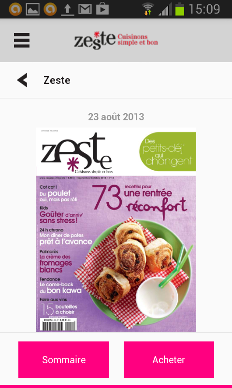 Zeste - Magazine - screenshot