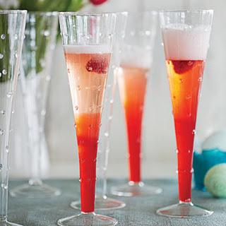 Raspberry-Rhubarb Spritzers