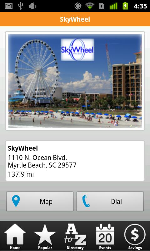 Myrtle Beach Mobile - screenshot
