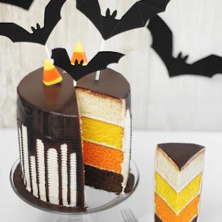 Candy Corn Tuxedo Cake