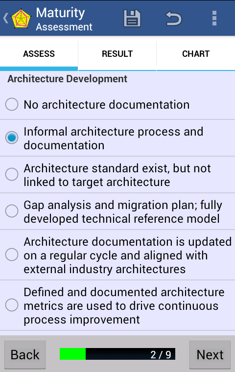 Architecture Maturity - screenshot