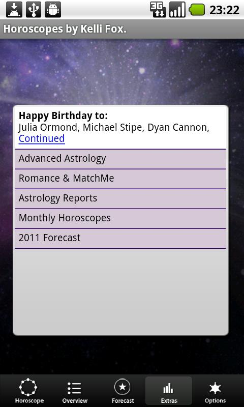 Astro Horoscope, by Kelli Fox- screenshot