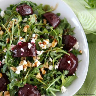 Balsamic Beet Salad with Arugula and Goat Cheese Recipe