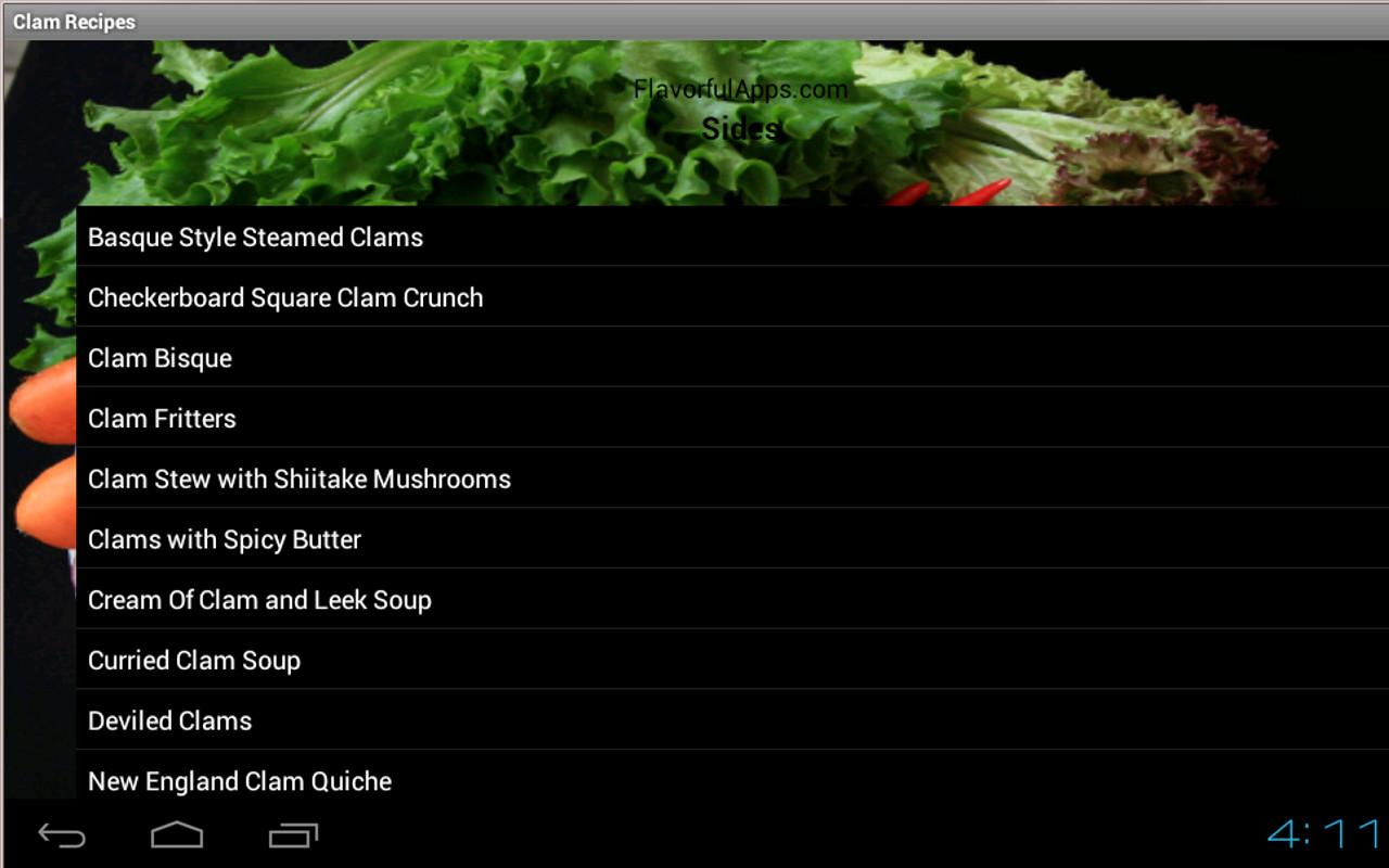 Clam Bake and Chowder Recipes - screenshot