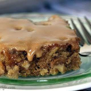 Gooey Whole Wheat Apple Bars with Apple Cider Glaze