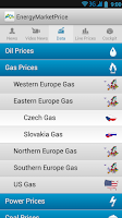 Screenshot of Energy Market Price