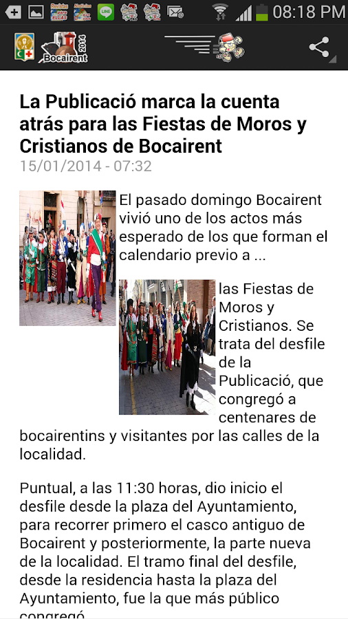 Guia Festera Bocairent 2014 - screenshot