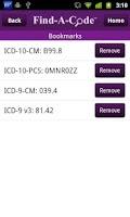 Screenshot of Find-A-Code ICD10/ICD9 +GEMs