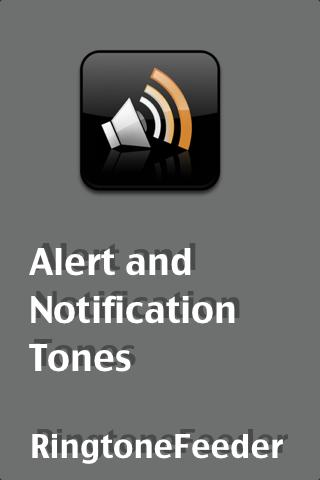 Notifications and Alert Tones- screenshot