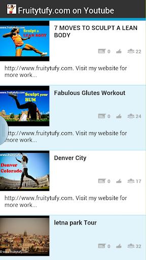 Fruitytufy.com on youtube