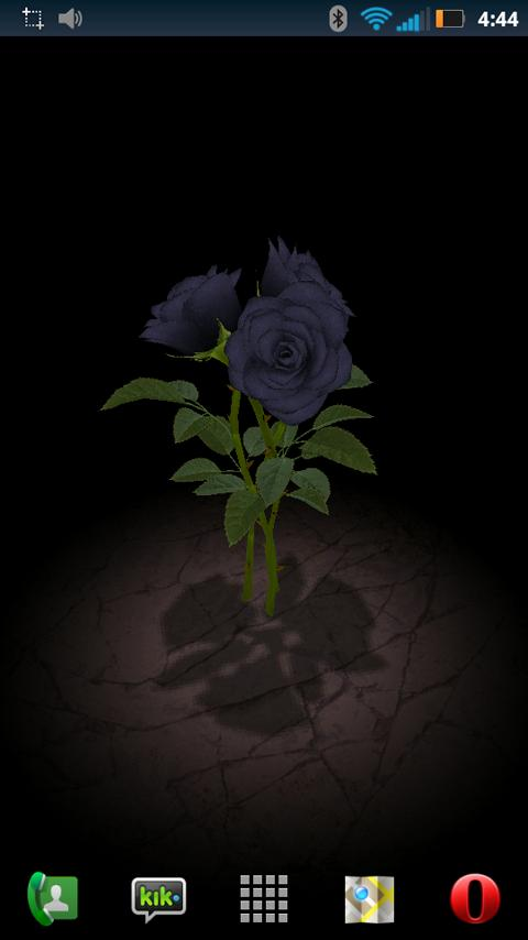 3D Rose Bouquet LWP Free - screenshot