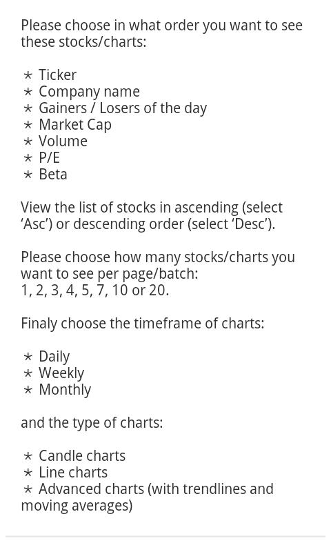 My Charts - screenshot