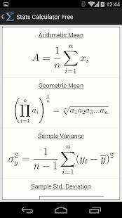 Stats Calculator Free - screenshot thumbnail