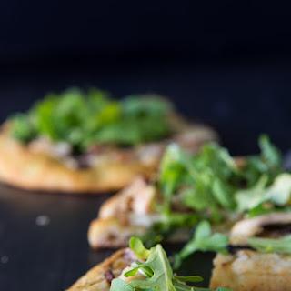 Single Serve Cheesy Chicken Pesto Pizza