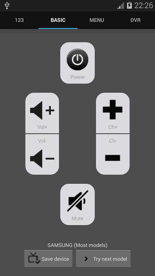 Galaxy Universal Remote - screenshot
