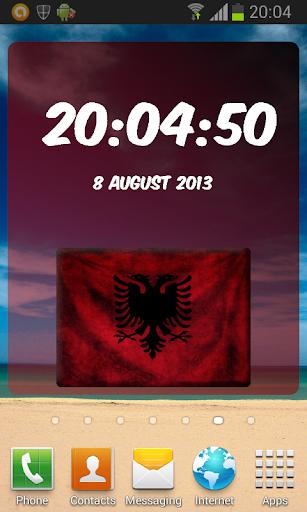 Shqipëri Digital Clock
