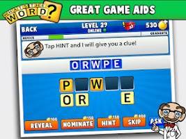 Screenshot of What's The Word? Word Puzzle