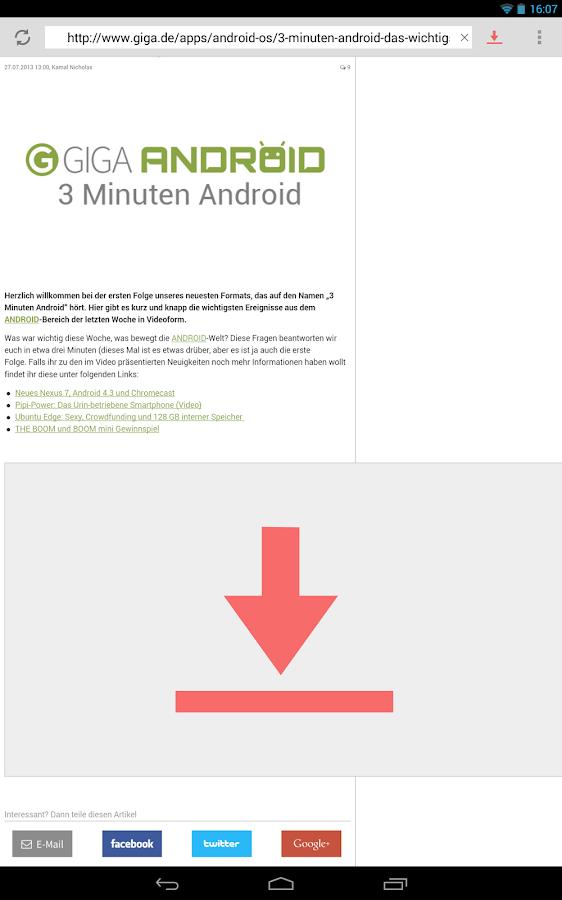 vGet (Stream, Download, DLNA) - screenshot