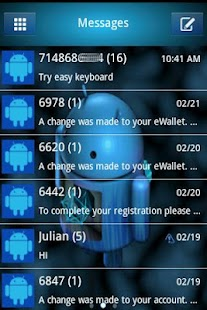 Extreme ICS  HD Go SMS Theme - screenshot thumbnail