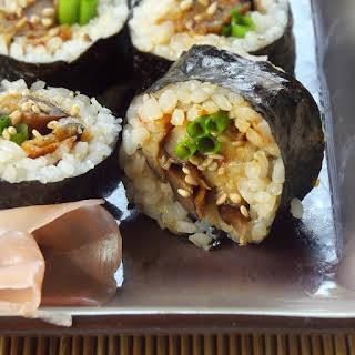 Spicy Eggplant Sushi.