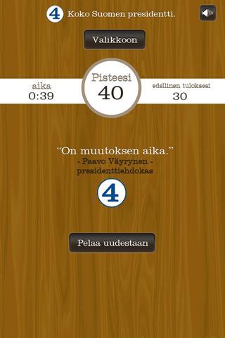 Paavo Väyrynen-Presidenttipeli- screenshot