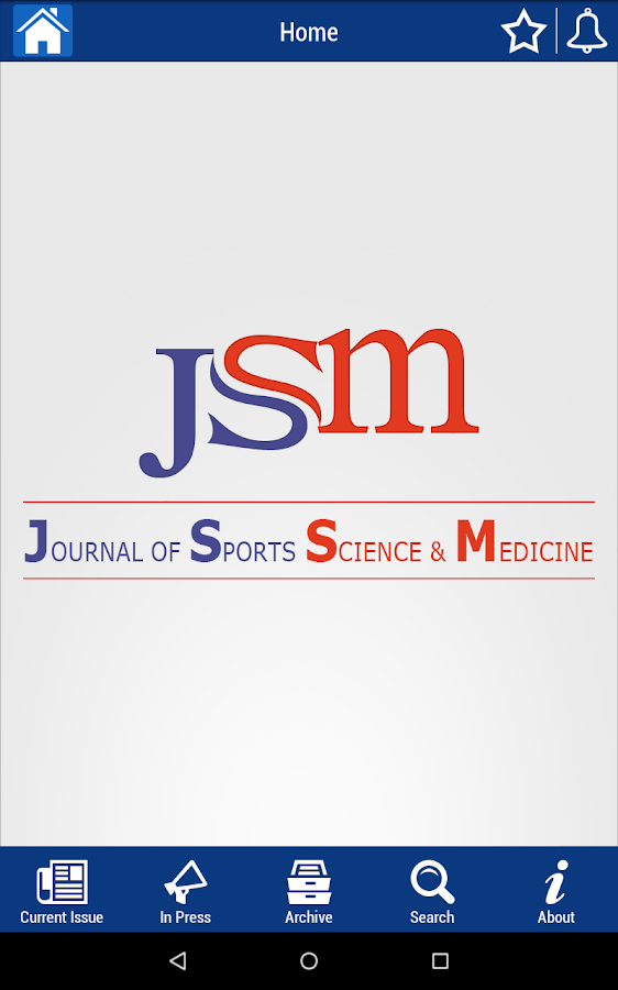 J Sport Sci & Med- screenshot