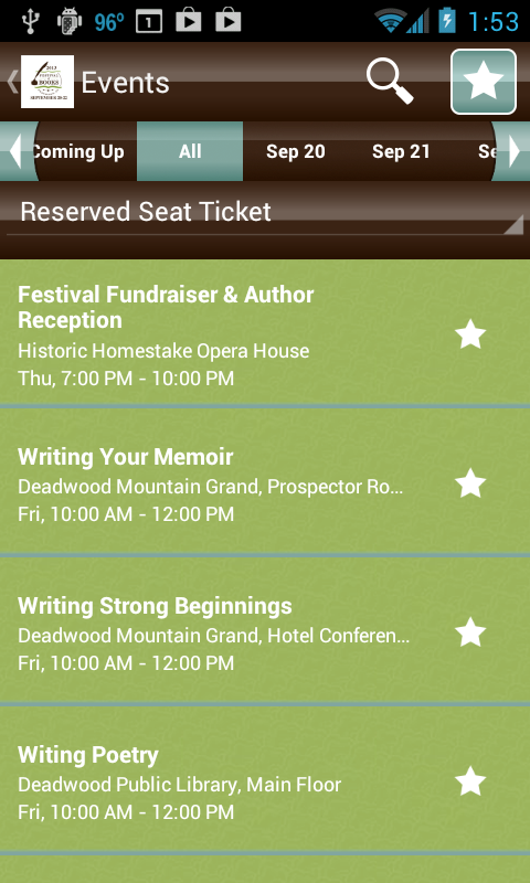 South Dakota Festival of Books - screenshot