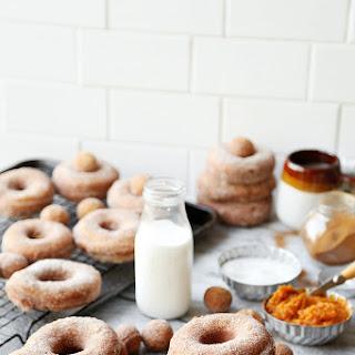 Pumpkin Cinnamon Sugar Doughnuts