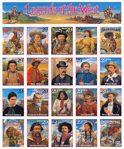 Legends Of The West Stamp Sheet - Bill Pickett