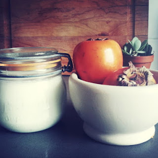 Persimmon Lassi with Cardamom and Maple.