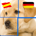 Puzzle Animals: Spanish-German logo
