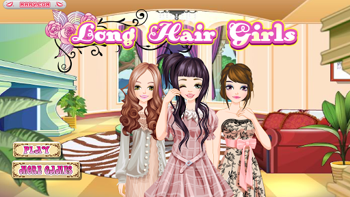 长发女孩- 女孩游戏