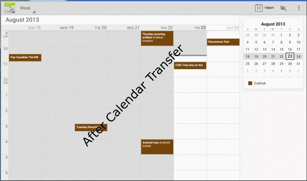 Outlook Calendar Transfer Sync - screenshot