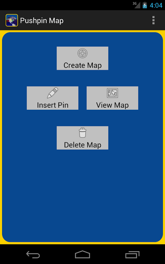 PushpinMap- screenshot