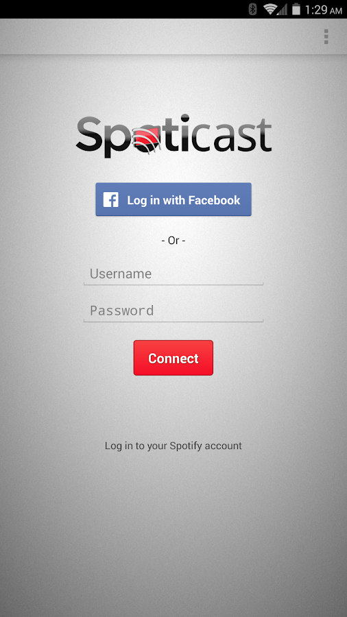 Spoticast- screenshot