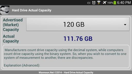 【免費工具App】Hard Drive - Actual Capacity-APP點子