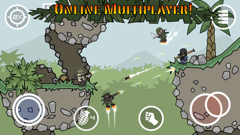 Doodle Army 2 : Mini Militia Screenshot 0